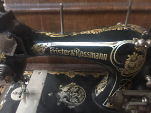 Rare Vintage 1900's Frister & Rossmann Sewing Machine WORKING