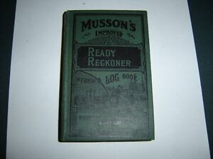 Musson's Ready Reckoner from the 1950's