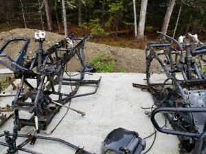 Honda 350 fourtrax and Honda 450 foreman frames with registratio
