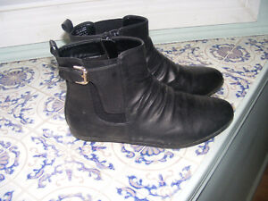 Faux Black Leather Boots