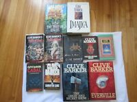 CLIVE BARKER - Collection livres ANGLAIS ENGLISH books HORROR