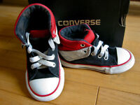 Black CONVERSE High Tops: 7 US, 23 EUR (Toddler)