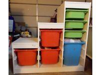 IKEA Toy Storage TROFAST Frame with 7 bins