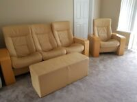 Reclinable Leather Sofa Suite