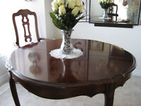 SOLID CHERRYWOOD DINING ROOM SUITE