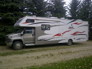 Motor home with garage