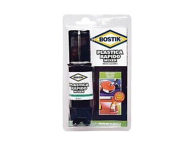 Colla adesivo bicomponente Plastica Rapido Mixer Bostik 25ml (D2577)