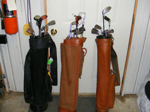 Clubs and bags for three, one price
