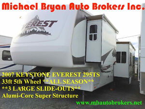 2007 KEYSTONE EVEREST 33FT 5TH WHL **3 SLIDE-OUTS** GREAT PRICE*