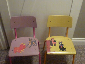 "Children's chairs "" Lady and the Tramp"" Disney theme"