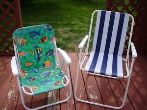 2 Beach Style Lawn Chairs for Sale