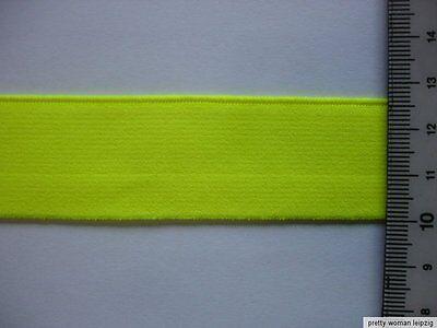 10m Gummiband 0,35€/m neongelb 26mm breit MB99