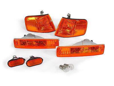 6pcs COMBO JDM AMBER Corner+Bumper Signal+Side Marker Light FOR 90-91 Honda CRX