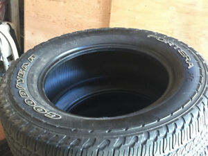 4 Used Goodyear Fortera HL, P245/65R17, M + S, 6/32nd - $175 all