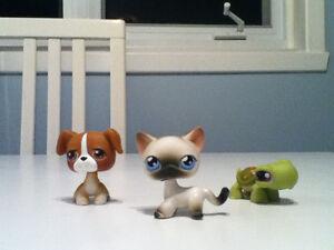 Figurines Pet Shop 3.00 $ chaque avec aimant sous le pied