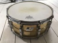 Ludwig 14x6.5 lm303 brass snare drum
