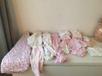 Girls baby bundle 0-6 months