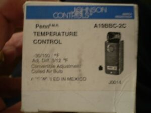 Penn A19BBC-2C Thermostat- Mechanical - Minus 30F to Plus 110F