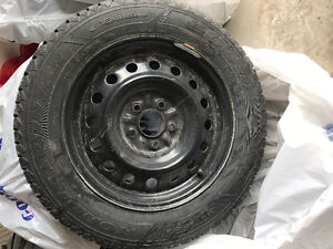 215/60/16 Goodyear Winter Tires and Rims