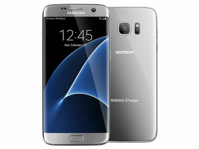 Samsung Galaxy S7 Edge Sm-g935v - 32gb Silver Verizon & Gsm Network Unlocked