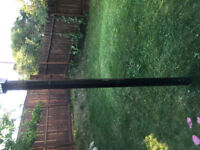 Need metal pole removed from backyard.