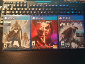 For Trade: WATCHDOGS, DESTINY, TEKKEN 7 for PS4