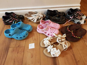Size 13 girl shoes $20 for all in pic!