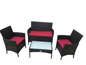 Four Piece patio outdoor  set brand balcony townhouse NEW