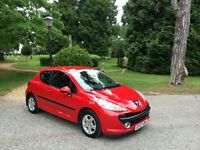 2007/57 Peugeot 207 1.4 16v 90 Sport 3 Door Hatchback Red