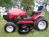 """Mint 18 HP 46"""" triple blade Huskee GT Riding tractor 23""""tires"""