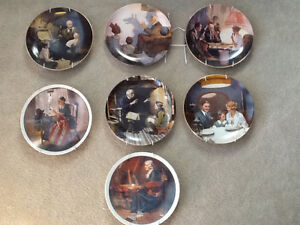 Norman Rockwell plates Cambridge Kitchener Area image 1