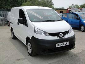 2014 Nissan NV200 1.5 dCi Acenta Van. Only 14,000 miles. 1 owner. FSH.