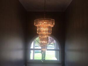Elegant hanging chandelier for entrance