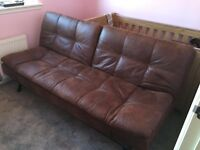 FAUX SUEDE BROWN SOFABED