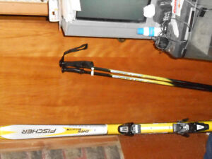 FISHER SKIS SALOMON BINDDINGS SCOTTPOLES  MATCHING