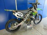 Kawasaki KX 250 2005 Ex Pro Circuit bike,billet clamps,Mike brown graphics