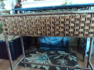 Vintage Wicker Planter or Plant Stand