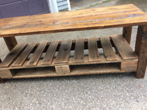 Homemade wooden reclaimed coffee table