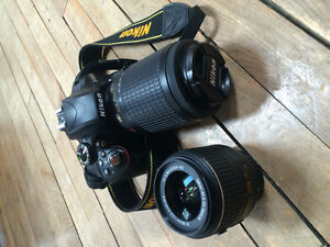 Nikon D3300 with lenses