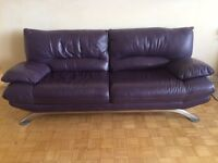 All leather Nicoletti couch