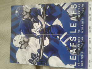 Toronto Maple Leafs vs Ottawa Senators. Wed. Feb. 6th.