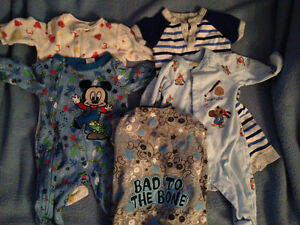 baby boy or gender neutral sleepers 3-6 month