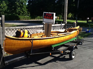 Burleigh Falls Cedar Strip Canoe