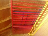 Ikea blue, red and yellow bunk beds