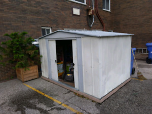 10 ft x 7 ft x 6.5 ft tall Steel shed