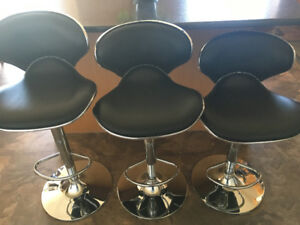 Bar Stools (3) - adjustable, good condition.