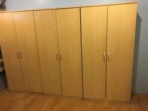 3 Birch Storage Cabinets