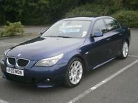 2009 09 BMW 520 2.0 TD M SPORT 5 SERIES 4 DOOR SALOON CAR METALLIC BLUE 6 SPEED