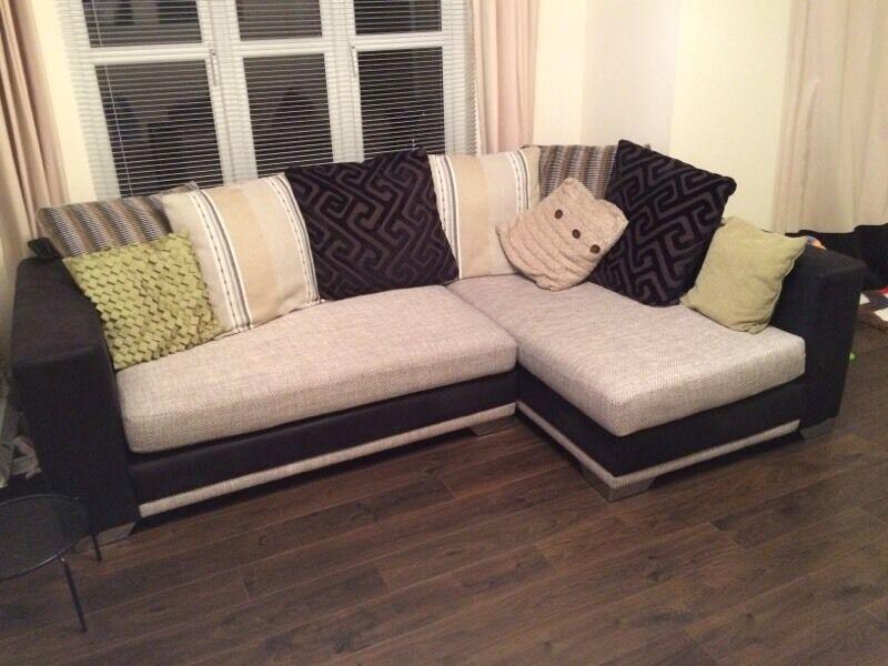 Dfs Monaco Corner Sofa And Cuddler Chair In Kirkliston