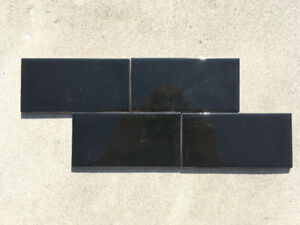 "3""x6"" Black Glossy Wall Tile - 1020 SQFT - WAREHOUSE SALE!"